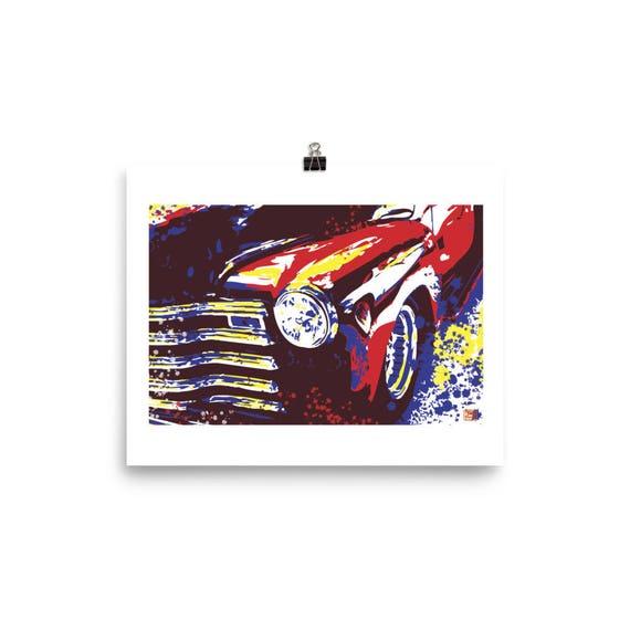 Old Chevy Pick up Pop Art Wall Art Home Decor Prints