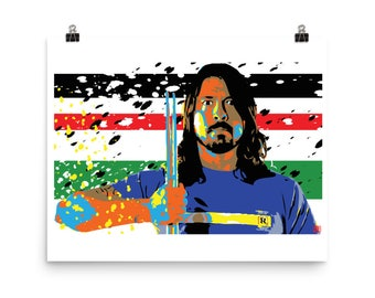 Dave Grohl Foo Fighters Home Decor Pop Art Print