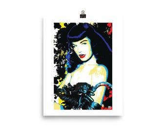 Sexy Betty Page Pop Art Home Decor Wall Art Prints