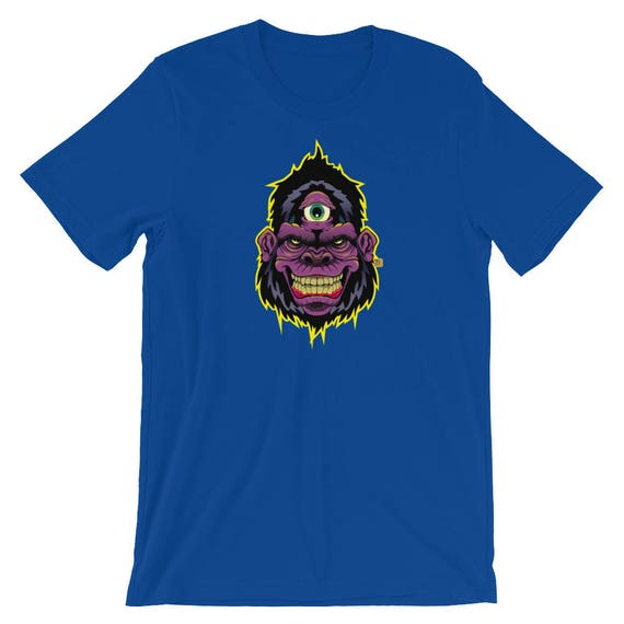 Three Eye Gorilla Short-Sleeve Unisex T-Shirt
