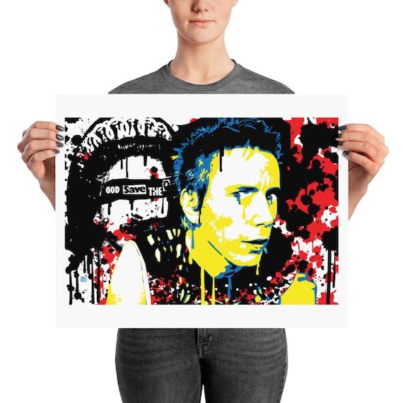 Johnny Rotten Sex Pistols Pop Wall Art Home Decor Prints