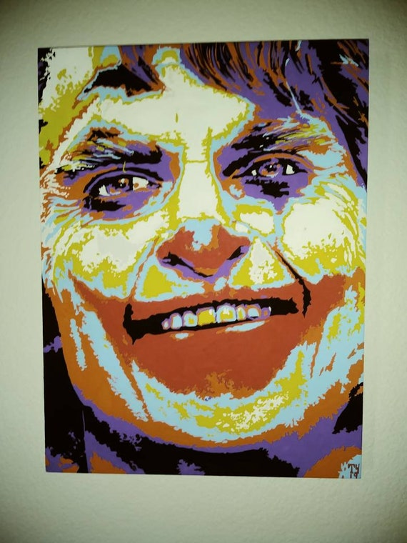 Joaquin Phoenix as the Joker original 12 x 16 painting illustration.