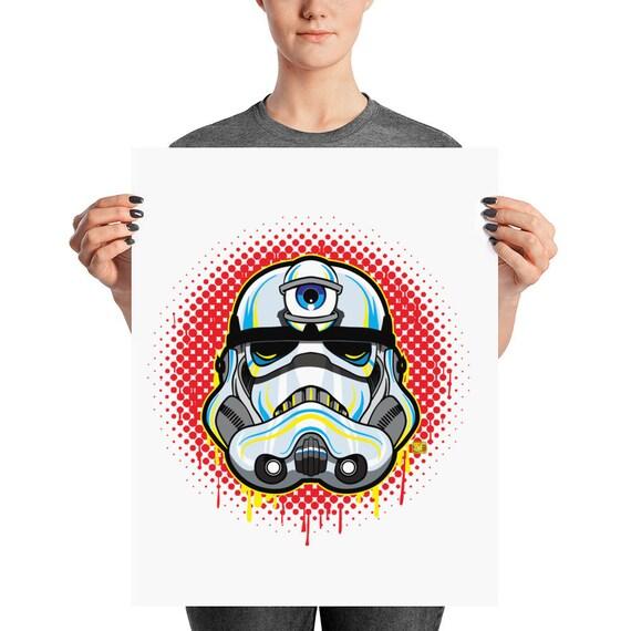 3 Eye Stormtrooper Pop Art Home Decor Print