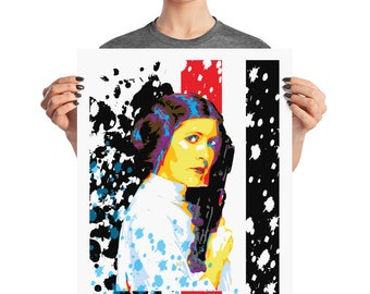 Princess Leia Star Wars Pop Wall Art Home Decor Prints