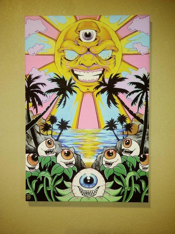 "3rd Eye Rising 24 x 36"" canvas Original Art painting"
