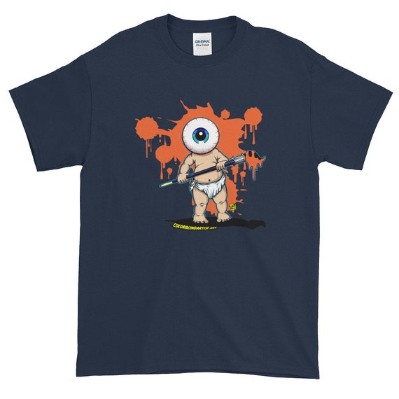 Big Eye Baby Artist Printed on a Gildan 2000 Ultra Cotton T-Shirt