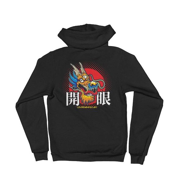 Open Your Eye Dragon Hoodie sweater