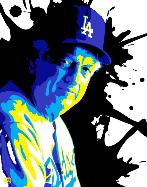 Tommy Lasorda Pop Art Print Dodger