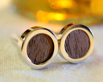 Wood Grain Custom Cuff Links