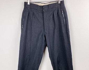 "40s/50s Vintage Edelweiss High Waist Ski Stirrup Pants - 30"" waist, 35"" hips"