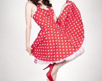 Red pinup Lolita dress