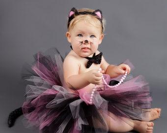 PRETTY KITTY...pink cat costume....girls halloween costume.....baby costume newborn costume size nb-2T availalbe  sc 1 st  Etsy & Newborn costume   Etsy