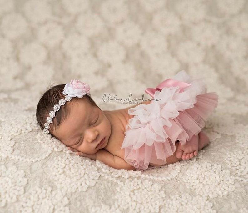 baby bloomers Ombre Tutu Bloomer with rhinestone headband baby tutu newborn photo prop