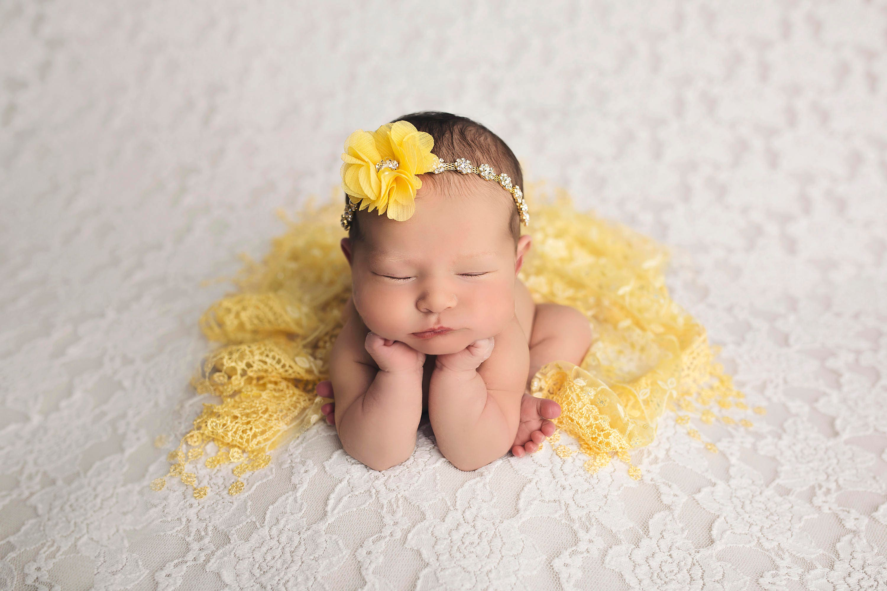 Newborn Photography Yellow