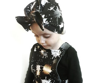 Bow turban hat - baby hat - baby turban - organic cotton - girls turban -  headwrap - polka dot - jersey 43e13affaa2a
