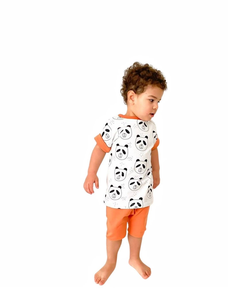 baby top summer baby clothes summer set baby shorts baby outfit- toddler outfit Pete the panda shorts and tee set