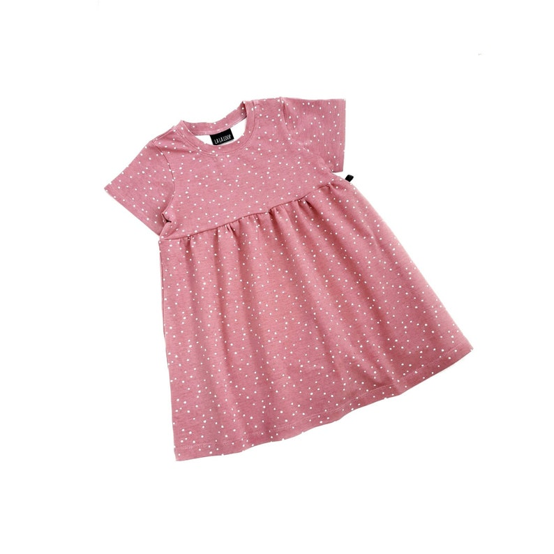 Rose spotty dress baby girl dress baby dress t shirt dress polka dot dress summer dress summer baby