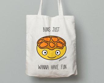 Hong Kong Pineapple Bun 'Bolobao' Cotton Canvas Tote Bag