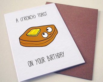 Hong Kong French Toast Birthday Card. Hong Kong Funny Greeting cards and Happy Birthday cards.