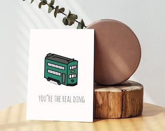 Hong Kong Tram 'Ding Ding' Greeting Card - Blank Card