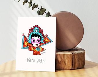 Hong Kong Drama Queen Cantonese Opera Singer Greeting Card - Blank Card