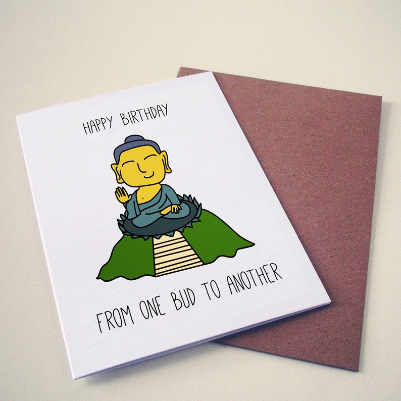 Hong Kong Big Buddha Birthday Card Funny Greeting
