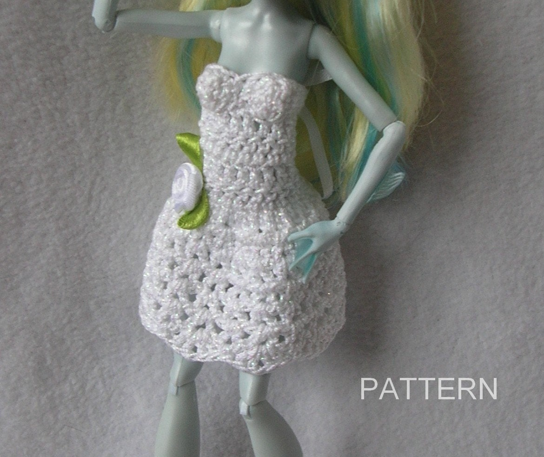 Monster High Doll Crochet Dress Pattern Ever After Barbie Doll Etsy