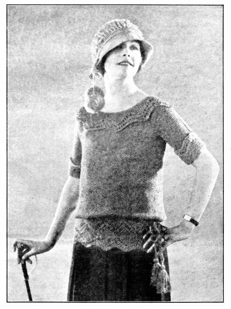 Vintage Knit Women's Sweater Pattern 1920's Downton | Etsy