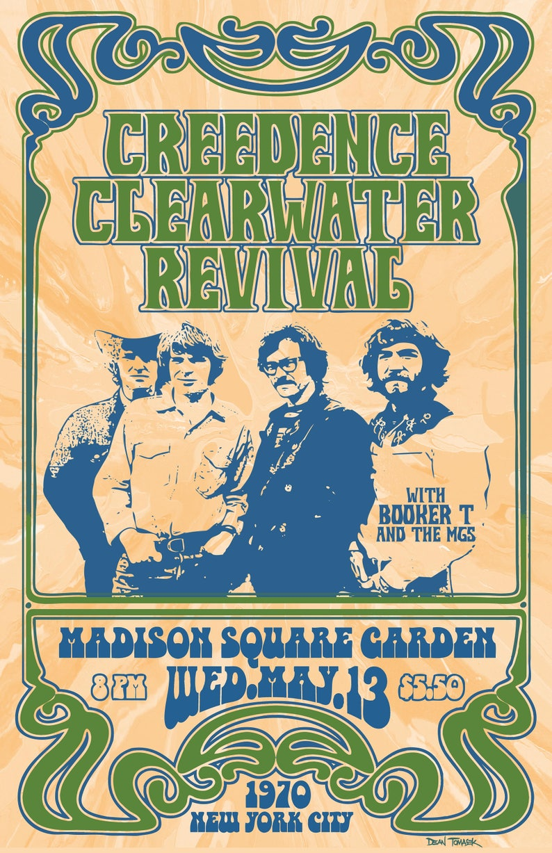 Creedence Clearwater Revival 1970 Tour Poster