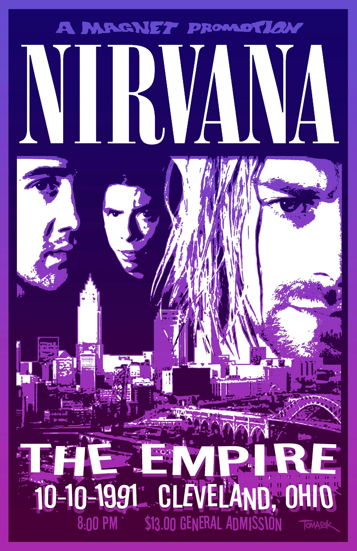 Nirvana 1991 Tour Poster | Etsy