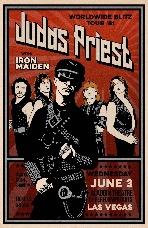 Judas Priest 1981 Tour Poster