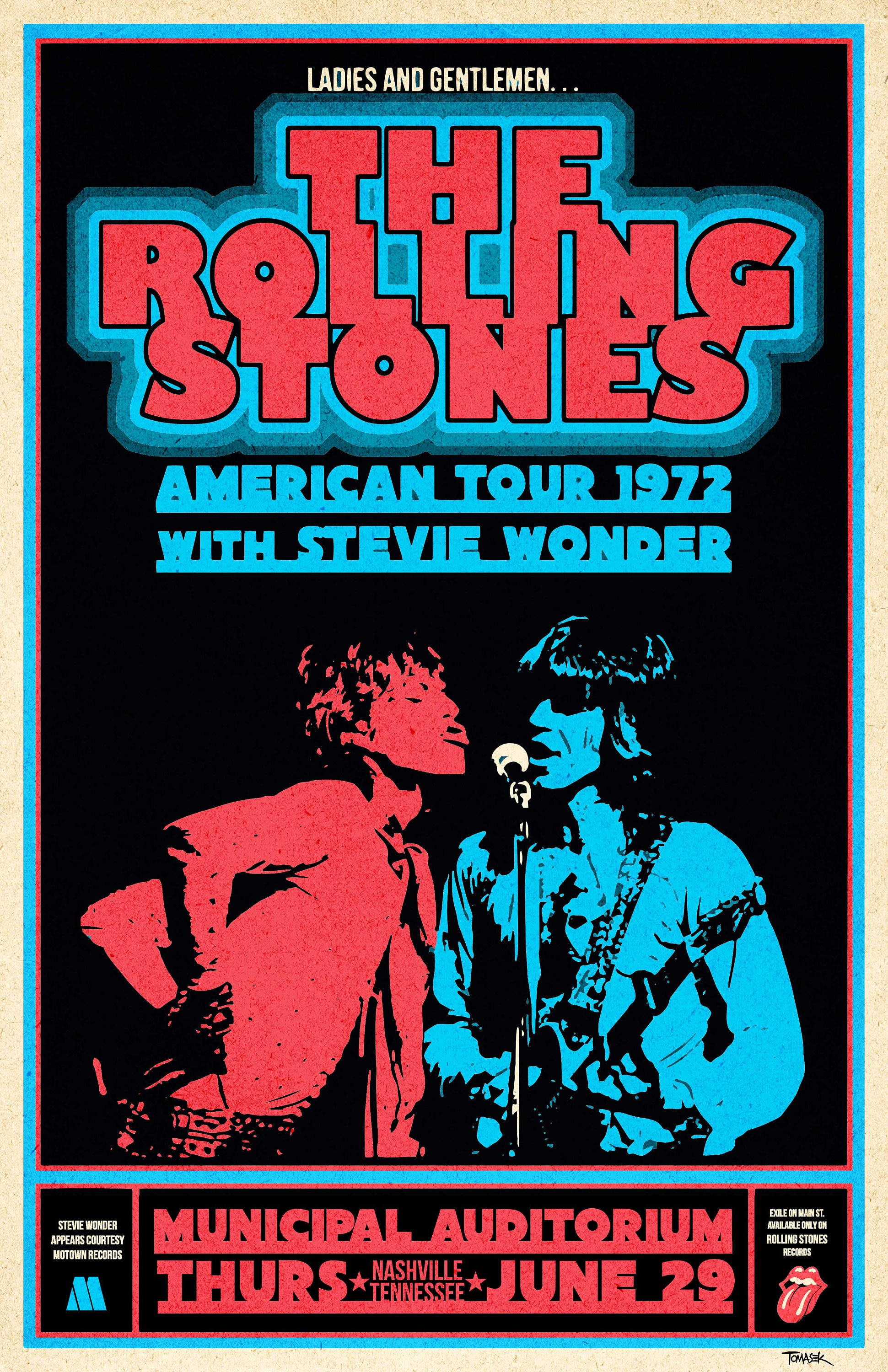 rolling stones 1972 tour poster etsy. Black Bedroom Furniture Sets. Home Design Ideas