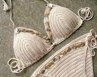 1223d53a7bf44 Shell bikini crochet