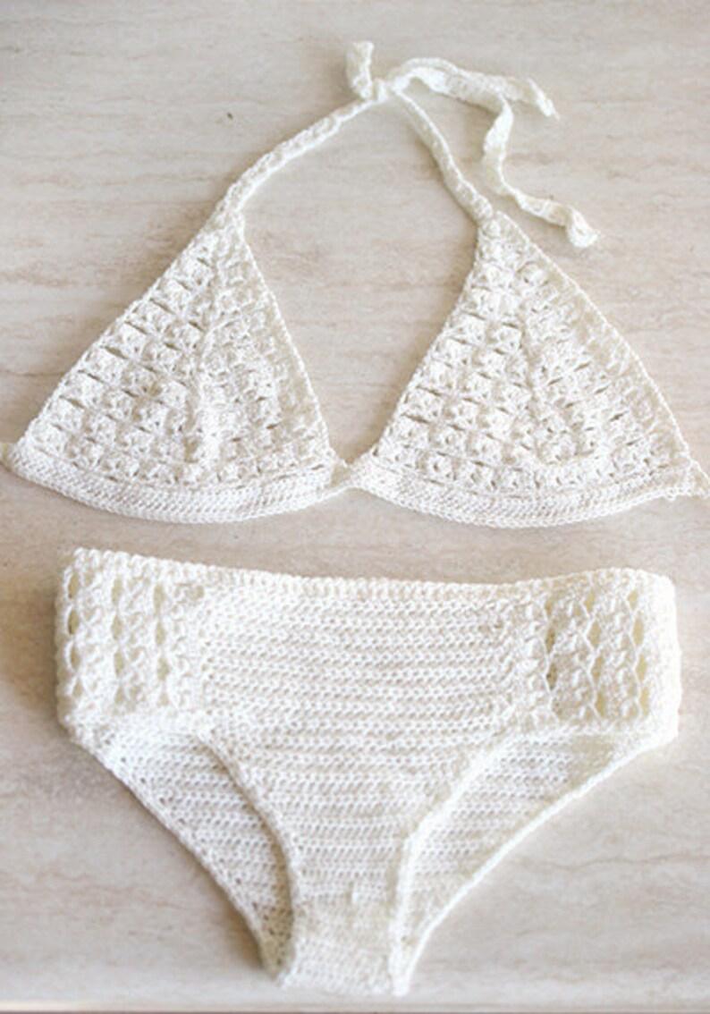 Uncinetto Bikini Uncinetto Costume Da Bagno Con Filo In Etsy