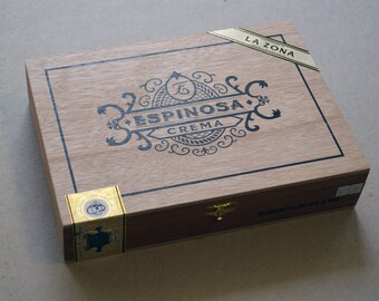 Cigar Box - La Zona - Espinosa Crema Cigar Box - Beautiful All Wood - Nicaraguan Cigar Box