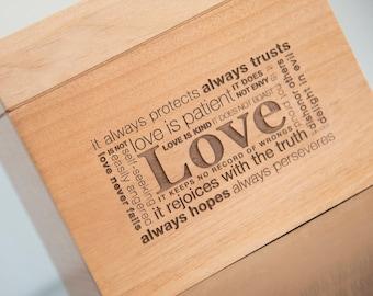 Love Never Fails Recipe Box