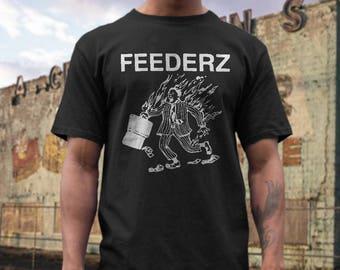 the Feederz   T shirt screen print short sleeve     shirt cotton