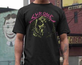 Chrome  T shirt screen print short sleeve     shirt cotton
