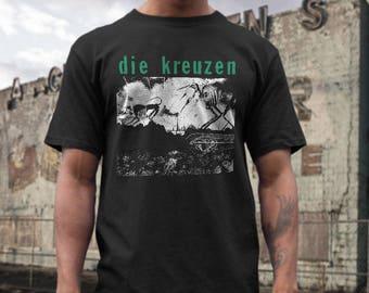 Die Kreuzen  T shirt screen print short sleeve     shirt cotton