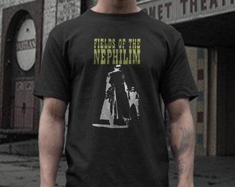 Fields Of Nephilim   T shirt screen print short sleeve  black shirt cotton