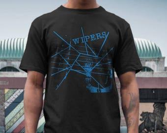 Wipers  T shirt screen print short sleeve     shirt cotton