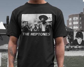the Heptones  T shirt screen print short sleeve     shirt cotton