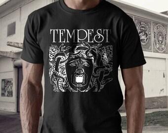 Tempest T shirt screen print short sleeve     shirt cotton