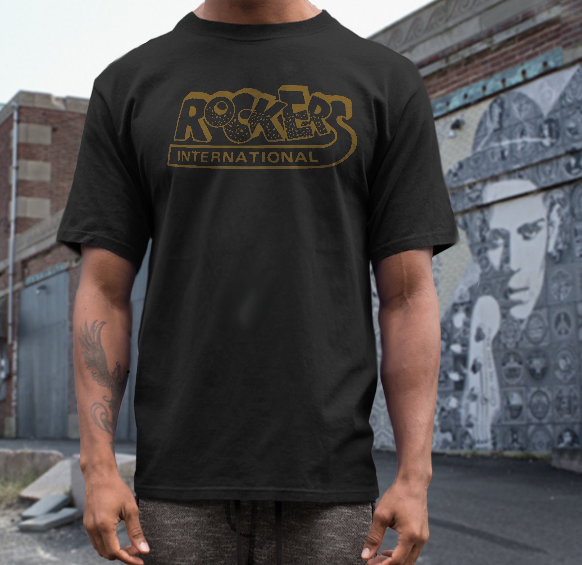 Rockers Records T Shirt Screen Print Short Sleeve Shirt Etsy