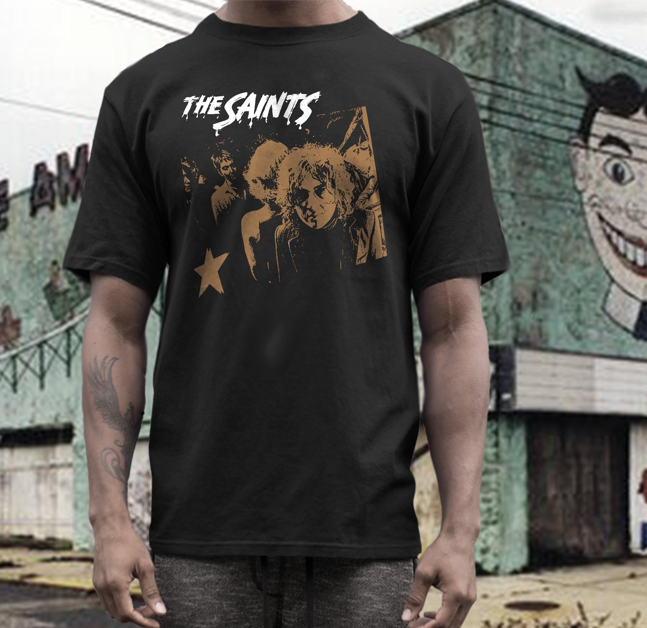 The Saints T Shirt Screen Print Short Sleeve Shirt Cotton Etsy