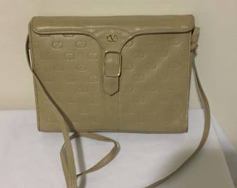 9c1dfd493b82 Vintage Valentino Beige leather Bag Purse