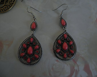 Circles of Coral Earrings