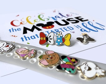 Watch Charms Baymax Alice Oyster Watch Charm Sally Watch Charm Gus Gus Watch Charm Mickey Watch Charm Bao Watch Charm Minnie Bow Watch Charm