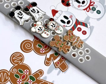 Watch Charms Holiday Watch Charms Mickey Snowman Watch Charm Mickey Gingerbread Watch Charm Minnie Gingerbread Watch Charm Ghost Watch Charm