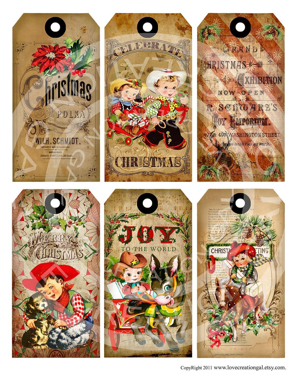 Vintage Christmas Cowboy Cowgirl Santa Stocking Party | Etsy